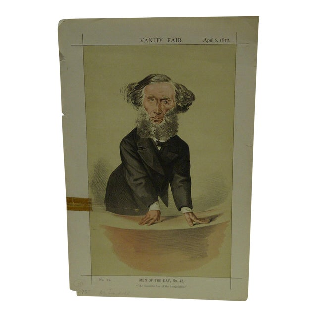 April 6, 1872 Men of the Day No. 43 The Scientific Use of Imagination Vanity Fair Print For Sale