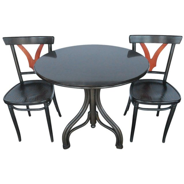 1950s Vintage Thonet Table And Chairs 3 Pieces Chairish