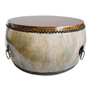 Mongolian Drum Coffee Table For Sale