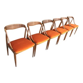 Mid-Century Modern Danish Dining Chairs by Moreddi - Set of 6 For Sale