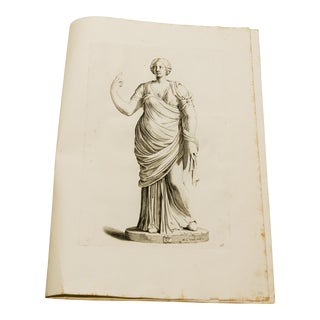 Old Master Engraving of Roman Statue- Galleria Giustiniana C. 1635 For Sale