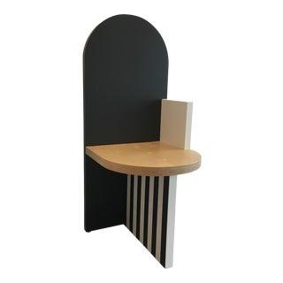 Angela Chrusciaki Blehm Black Arch Chair For Sale