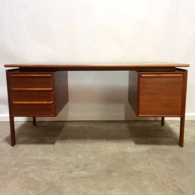 G. V. Gasvig Danish Modern Executive Teak Desk - Image 2 of 7