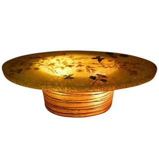 1960s Mid-Century Modern Accolay Crackeled Resin Coffee Table For Sale