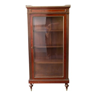 19th Century French Mahogany Display Cabinet For Sale