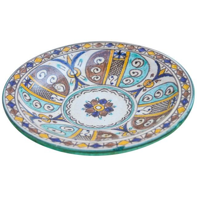 Ceramic Moorish Ceramic Wall Plate For Sale - Image 7 of 9