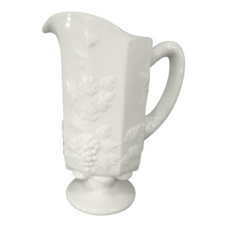 1960s Westmorland Milk Glass Pitcher For Sale