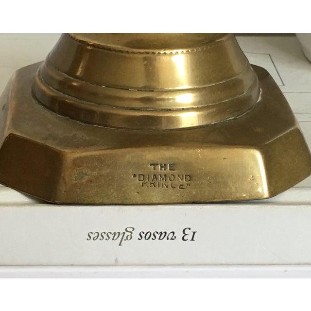 Antique Diamond Prince Brass Candlesticks - A Pair - Image 3 of 10