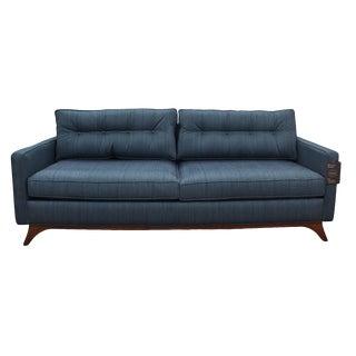 Mid Century Modern Style Robert Allen Tufted Sofa For Sale