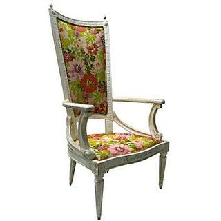 High-Back Armchair For Sale