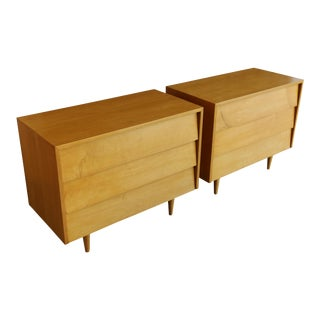 Mid Century Florence Knoll Maple Early Chests - a Pair For Sale