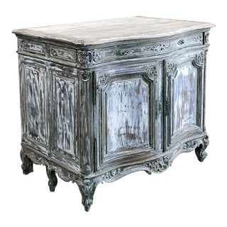 19th Century French Regence Whitewashed Commode For Sale