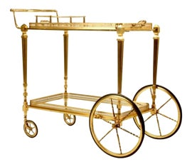 Image of Brass Bar Carts and Dry Bars