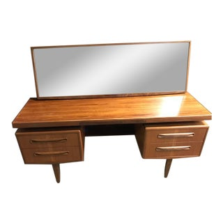 GPlan Mid-Century Writing Desk & Mirror - A Pair For Sale
