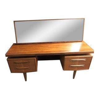 GPlan Mid-Century Writing Desk & Mirror - A Pair