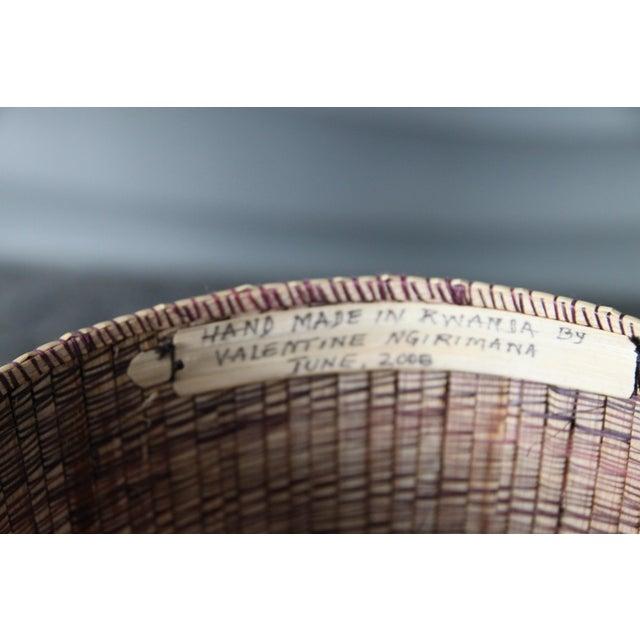2000 - 2009 Rwanda Handmade Baskets - Set of Three For Sale - Image 5 of 8