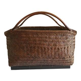 Large Tribal Boho Woven Basket