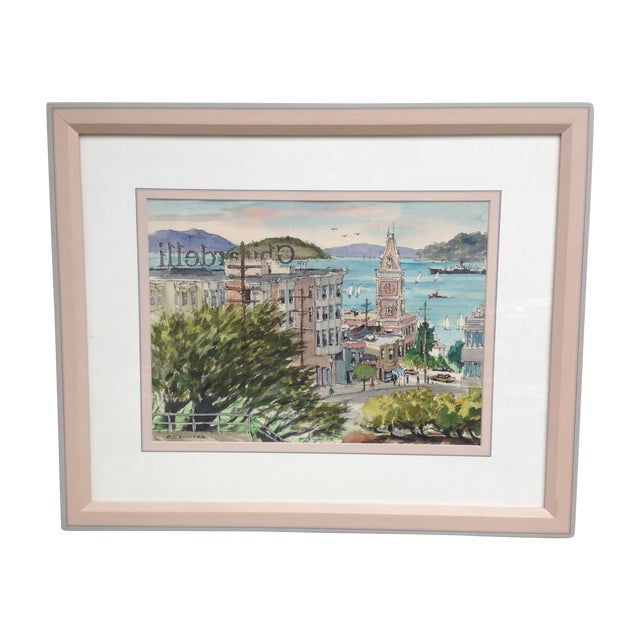 R. J. Skinner San Francisco Watercolor Painting - Image 1 of 4