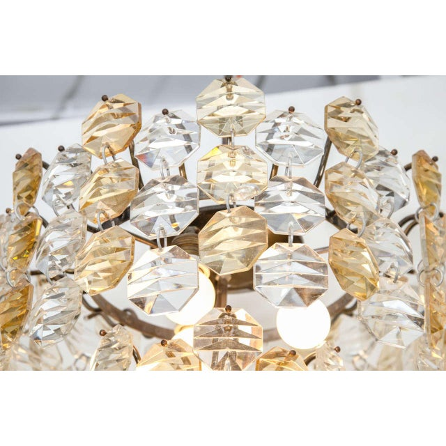Mid 20th Century Two-Toned Murano Glass Chandelier For Sale - Image 5 of 7
