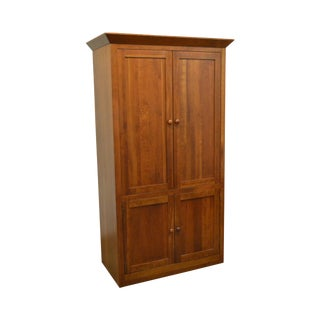 Ethan Allen American Impressions Solid Cherry TV Armoire Media Cabinet