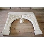 20th Century Louis XV Style Cultured Marble Fireplace Mantle - Image 6 of 6