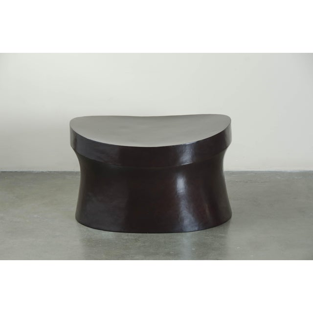 Saddle seat drum stool Black Copper Hand repoussé Limited edition Available in following finishes: - Red Bean Lacquer -...