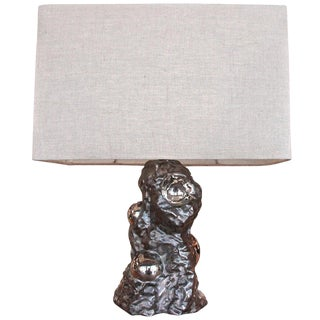 Table Sculpture Lamp by Ugo Zaccagnini 1950 For Sale