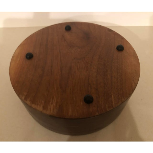 Vintage Handcrafted Wooden Turned Bowl For Sale - Image 4 of 6