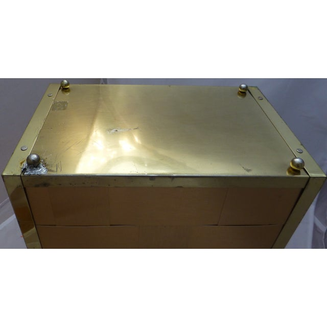 Retro Gold Toned Waste Basket and Tissue Cover - Image 7 of 11