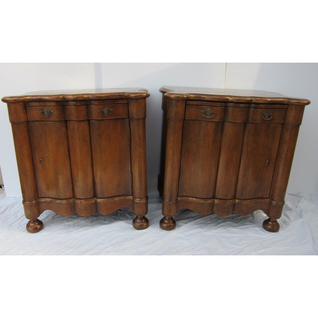 Italian Style Wood End Tables - A Pair - Image 2 of 7