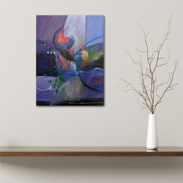 This delightful, joyous painting has a companion piece so they can be hung as a diptych although each can stand alone. At...