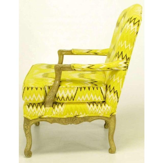 Pair Erwin-Lambeth Louis XV Style Arm Chairs & Ottoman - Image 4 of 10