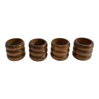 Vintage Wooden Napkin Rings - Set of 4 For Sale