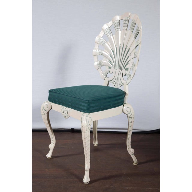 Metal Set of Eight Shell Back Dining Chairs For Sale - Image 7 of 10