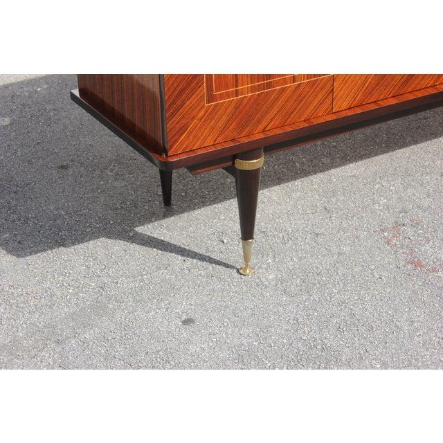 Bronze 1940s Art Deco Light Macassar Ebony Sideboard / Buffet For Sale - Image 7 of 13