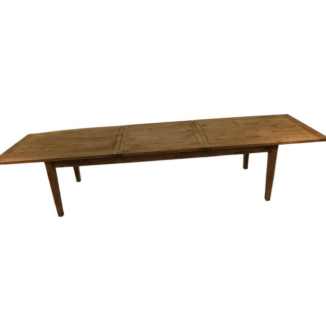 Parsons Rectangular Reclaimed Old Wood Dining Table - Image 2 of 10