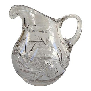 Vintage Cut Crystal Creamer For Sale
