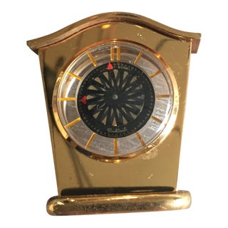 Ernest Borel Mid Century Cocktail Clock For Sale