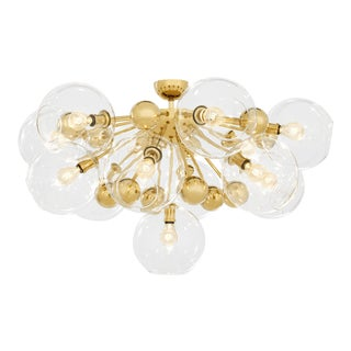 Gold 13-Bulb Flush Mount | Eichholtz Soleil For Sale
