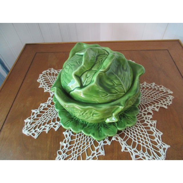 Vintage Holland Mold Cabbage Dish or Tureen For Sale - Image 10 of 10