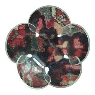 Mid-Century Molded Lucite Flower Petal Shaped Bowl