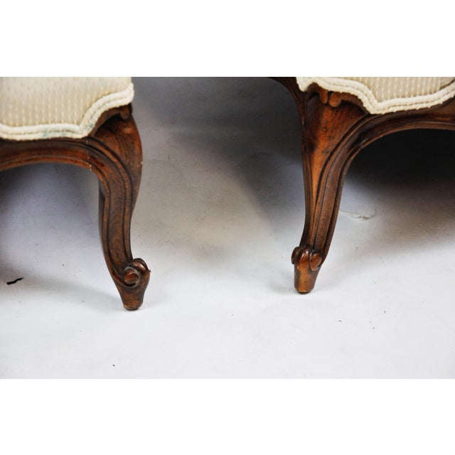 Pair of Vintage Queen Anne Wingback Chairs For Sale In New York - Image 6 of 13