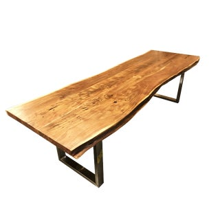 Handcrafted Acacia Wood Live Edge Dining Table