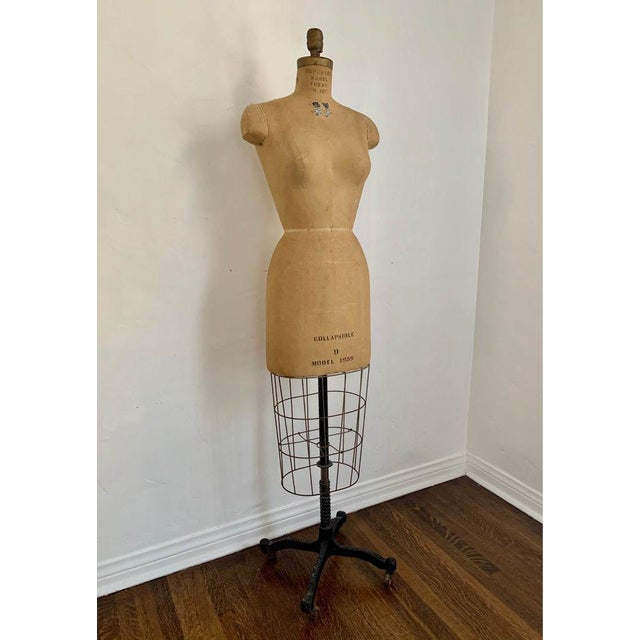 """Beautiful antique dress form for sale. Marked """"Collapsible Model 1959"""" by Superior Model Forms Co Inc. Looks like a modern..."""