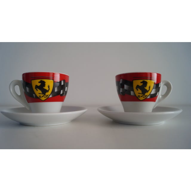 1990s Vintage Mid Modern Espresso Cups - a Pair For Sale - Image 5 of 5