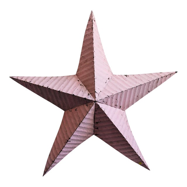 Pink Painted Metal Barn Star - Image 1 of 3