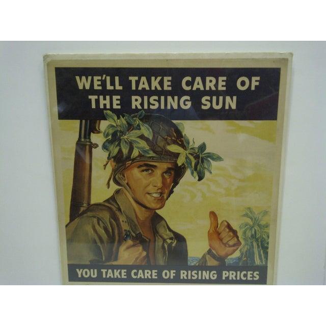 Vintage World War II War Bonds Poster For Sale In Pittsburgh - Image 6 of 6