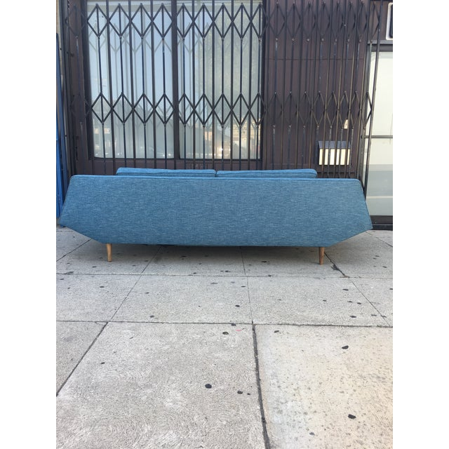 """Blue Adrian Persall Inspired """"Gondola"""" Sofa/ Custom Made For Sale - Image 8 of 12"""