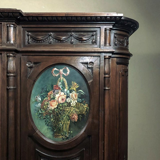 19th Century Italian Walnut Louis XVI Triple Armoire For Sale - Image 11 of 13