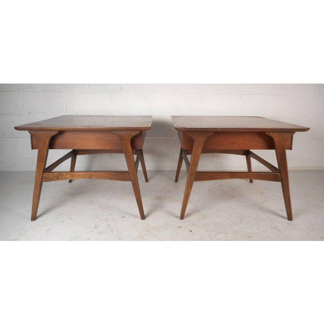 Vintage Modern Walnut Nightstands - A Pair For Sale - Image 4 of 9